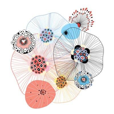 Naklejka abstrakcyjnych elementów