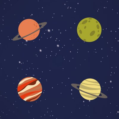 Naklejka Abstrakt Cartoon Planet