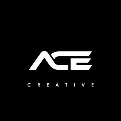 Naklejka ACE Letter Initial Logo Design Template Vector Illustration