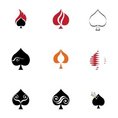 Naklejka Ace logo vector illustration design template