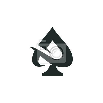 Naklejka ace logo wektor graficzny zarys minimalistyczny