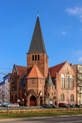 Naklejka Advent Church in Berlin Bötzowviertel