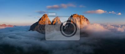 Naklejka Aerial view of Grohmann spitze, Dolomites, Italy