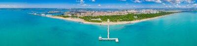Naklejka Aerial view of the pier of Burgas in Bulgaria