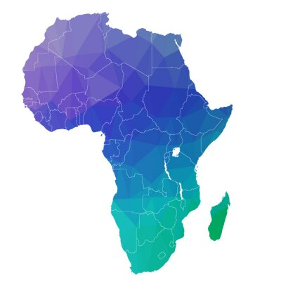 Naklejka Africa in the color triangle. Raster 4
