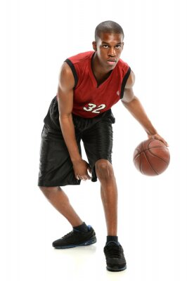 Naklejka African American Basketball Player