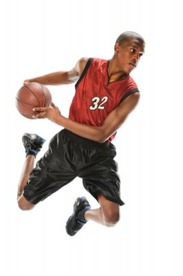 Naklejka African American koszykarz