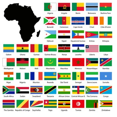 Naklejka African flags
