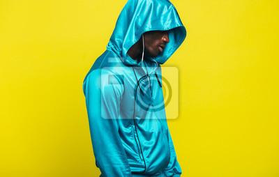 Naklejka African man in a sportswear