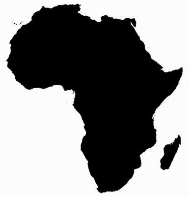 Naklejka Afryka Mapa