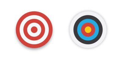Naklejka Aim target circle. Flat design vector illustration.