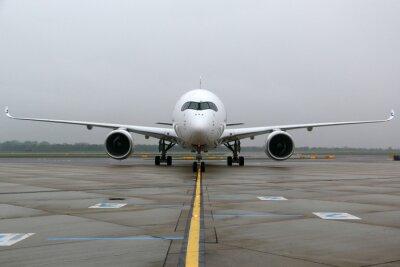Naklejka Airbus A350 przedni