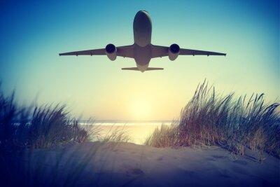 Naklejka Airplane Travel Destination Outdoors Take off Concept
