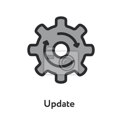 Aktualizacja Aktualizacja Odśwież Hog Koło Strzałka Minimalna Kolor Płaski Line Kontur Ikona Skoku