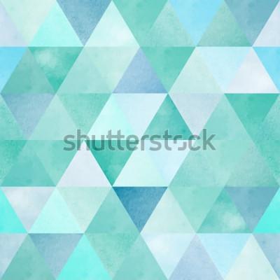 Naklejka akwarela bezszwowe wzór z rocznika trójkąt geometryczny