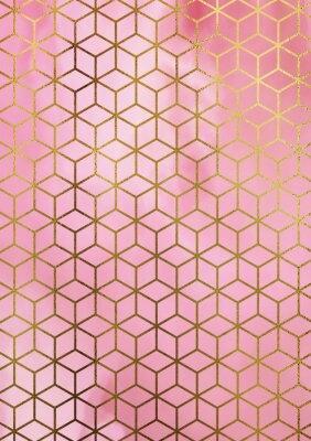 Naklejka Akwarela marmurowe t? Oz geometrycznych sze? Cian wzór.