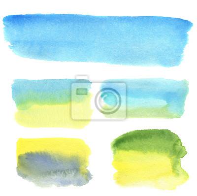 Akwarele ręcznie rysować banery do projektowania i tła. artystycznych ilustracji.