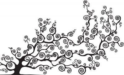 Naklejka Albero con rami curvi