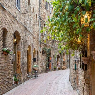Naklejka Aleja w Toskanii we Włoszech starego miasta