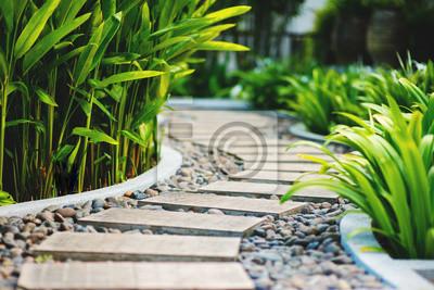 Naklejka Aleja w tropikalnym ogrodzie