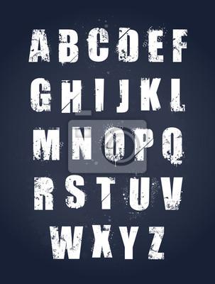 Alfabet grunge