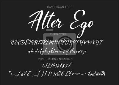 Alfabet kaligraficzny. Wektor handdrawn litery. Alfabet typografii dla twoich projektów: logo, krój pisma, baner internetowy, karta, zaproszenie na ślub.