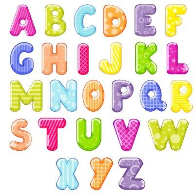 Naklejka Alfabet kreskówki