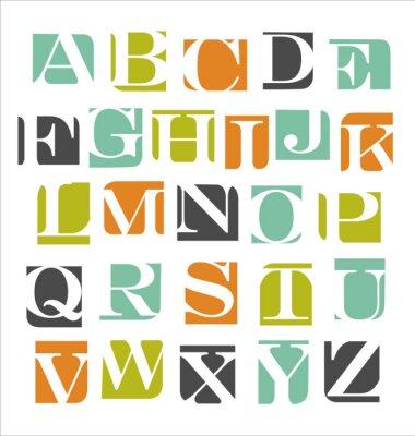 Naklejka Alfabet nowoczesny plakat streszczenie