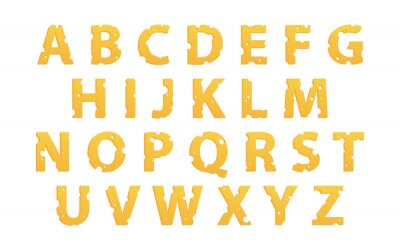 Naklejka Alfabet z serem