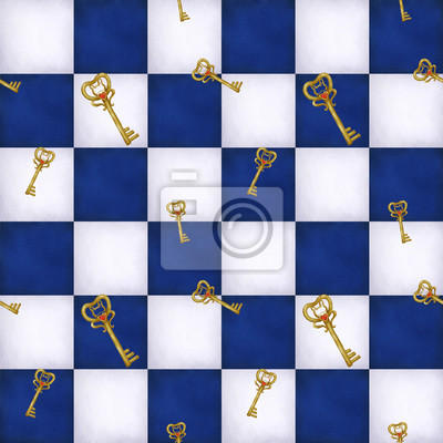 Alicja w krainie czarów, szachownica, cyfrowy ilustracja