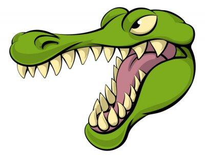 Naklejka Aligatora lub krokodyla kreskówki
