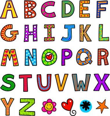 Naklejka Alphabet Text Doodle
