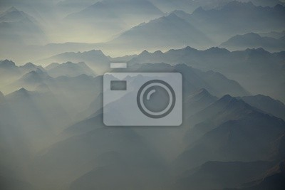 Naklejka Alpy z samolotu