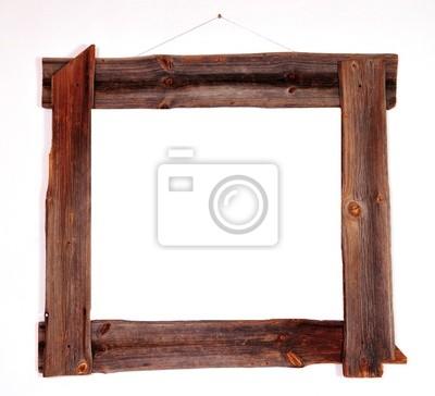 Naklejka Alter Holz Bilderrahmen