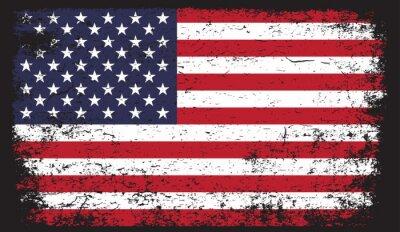 Naklejka American flag in grunge style