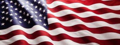 Naklejka American Flag Wave Close Up