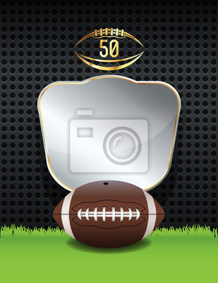 American Football Championship emblemat Ilustracja
