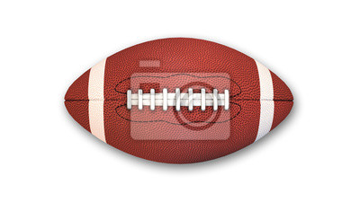 Naklejka American Football isolated on white background, top view