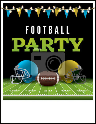 American Football Party Flyer Ilustracja