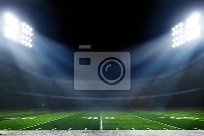Naklejka American football stadium with bright lights