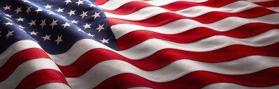 Naklejka American Wave Flag