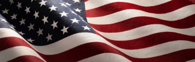 Naklejka American Wave Flag Backgroun. USA