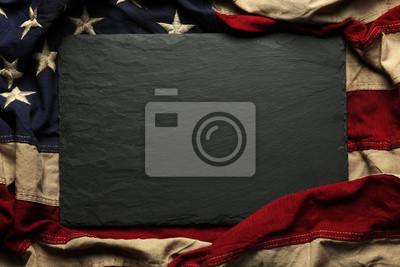 Naklejka Amerykańska flaga w tle na Memorial Day lub 4 lipca