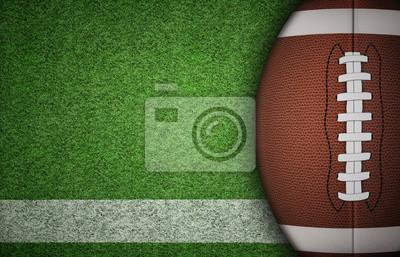 Naklejka Amerykańska piłka nożna na trawie
