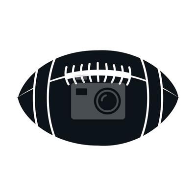 amerykański balon nożnej ilustracji wektorowych ikon projektowania