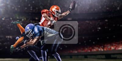 Naklejka Amerykański piłkarz w akcji w czasie gry