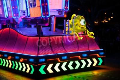 Naklejka ANAHEIM, CALIFORNIA - September 21st, 2015 - Disneyland's Paint the Night Parade