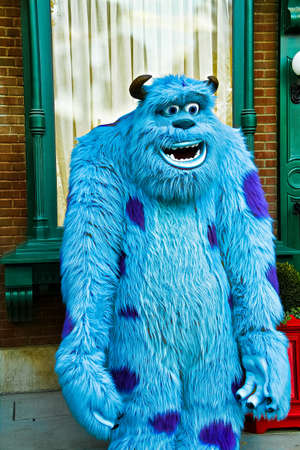 Naklejka Anaheim,CA/USA - Nov 27, 2010 : A photo of James P. Sullivan, a monster character from Monster From Monster Inc. at Disneyland in Anaheim.Disney Pixar animation.