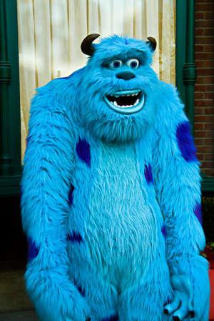 Naklejka Anaheim,CA/USA - Nov 27, 2010 : A photo of James P. Sullivan, a monster character from Monster Inc at Disneyland in Anaheim.Disney Pixar animation.