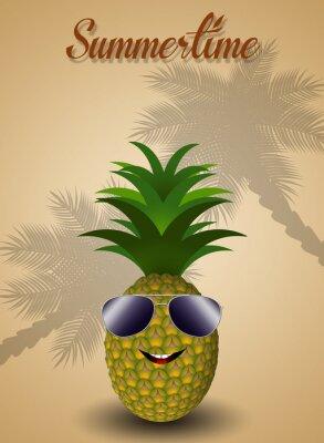 Naklejka Ananas na letnim zabawny